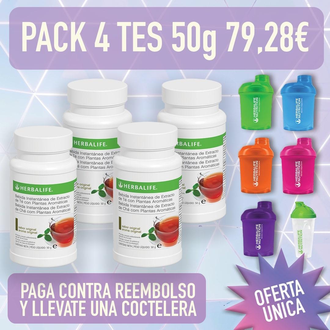Pack 4 bebidas de té Herbalife