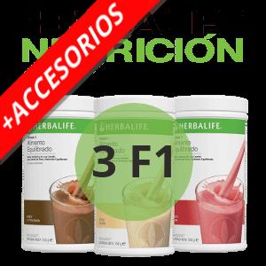 3 F1 + Accesorios Herbalife